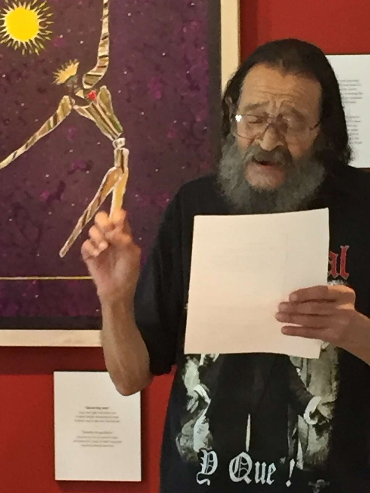 Q.R. Hand Jr. performed his poetry at Casa Latina in Berkeley on August 14, 2016.