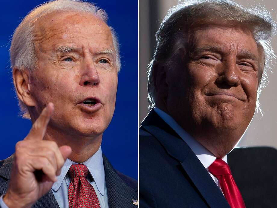 Joe Biden and President Donald Trump. (Getty Images/TNS) Photo: Getty Images, TNS