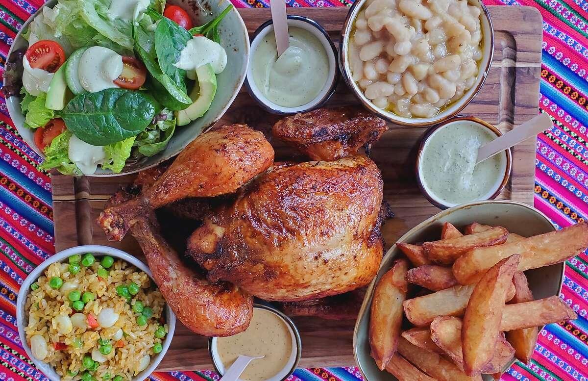 Pollo a la brasa is the main attraction at Jaranita SF, a Peruvian rotisserie chicken-focused restaurant opening soon in San Francisco's Marina District.