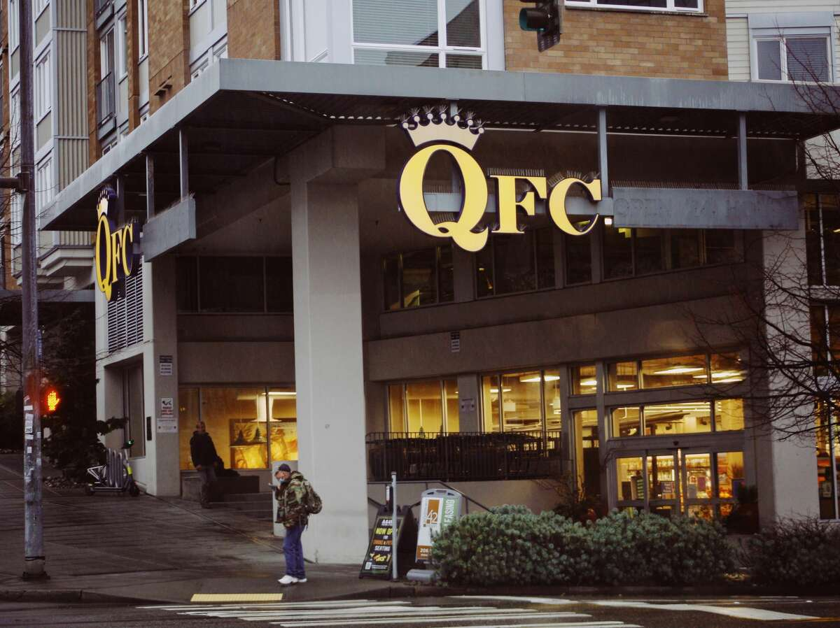 The outside of a QFC store in Seattle, Wash.