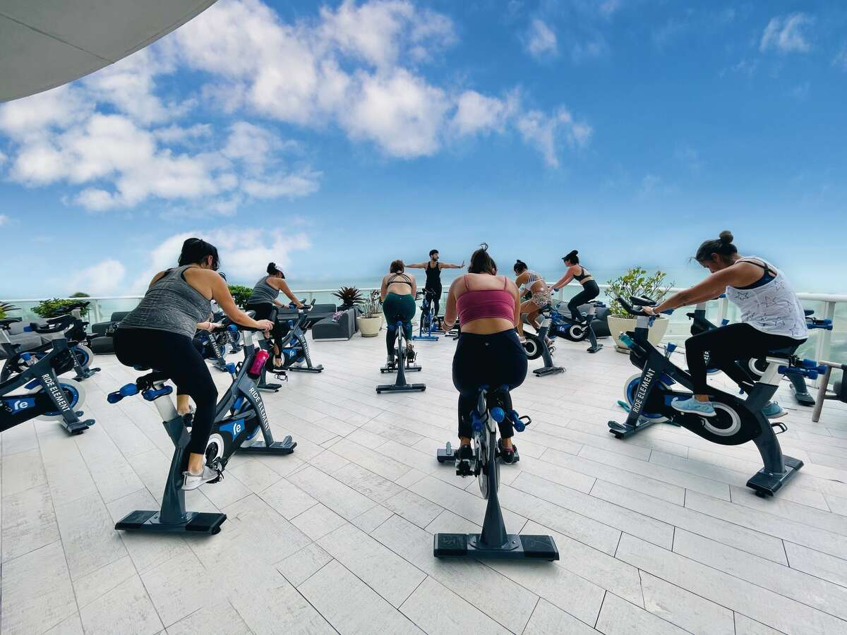 Beachfront W Fort Lauderdale has partnered with Ride Element spin studio in offering outdoor classes three times weekly.