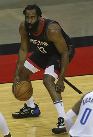 Houston Rockets guard James Harden (13) dribbles during the first quarter of a NBA game against the Dallas Mavericks Monday, Jan. 4, 2021, at Toyota Center in Houston. Photo: Yi-Chin Lee/Staff Photographer / © 2021 Houston Chronicle