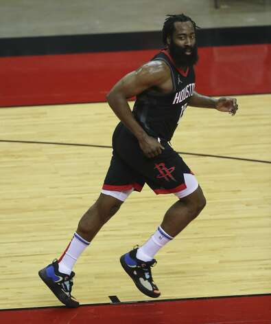 Houston Rockets guard James Harden (13) during the first quarter of a NBA game against the Dallas Mavericks Monday, Jan. 4, 2021, at Toyota Center in Houston. Photo: Yi-Chin Lee/Staff Photographer / © 2021 Houston Chronicle