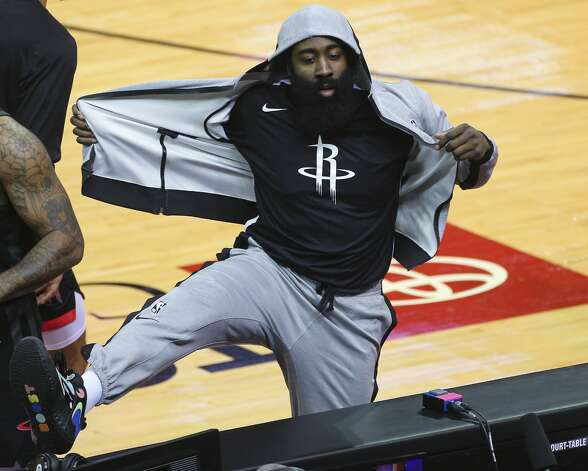 Houston Rockets guard James Harden (13) gets ready to play the ball during the first quarter of a NBA game against the Dallas Mavericks Monday, Jan. 4, 2021, at Toyota Center in Houston. Photo: Yi-Chin Lee/Staff Photographer / © 2021 Houston Chronicle