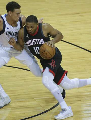 Houston Rockets guard Eric Gordon (10) drives toward the basket during the first quarter of a NBA game against the Dallas Mavericks Monday, Jan. 4, 2021, at Toyota Center in Houston. Photo: Yi-Chin Lee/Staff Photographer / © 2021 Houston Chronicle