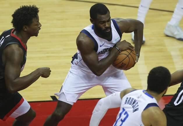 Dallas Mavericks guard Tim Hardaway Jr. (11) keeps his rebound safe during the first quarter of a NBA game against the Houston Rockets Monday, Jan. 4, 2021, at Toyota Center in Houston. Photo: Yi-Chin Lee/Staff Photographer / © 2021 Houston Chronicle