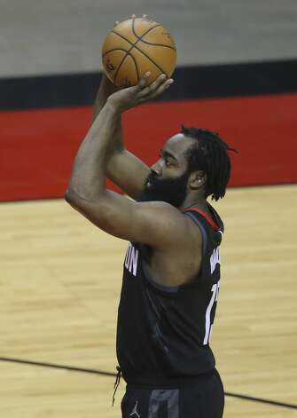 Houston Rockets guard James Harden (13) takes a free throw during the first quarter of a NBA game against the Dallas Mavericks Monday, Jan. 4, 2021, at Toyota Center in Houston. Photo: Yi-Chin Lee/Staff Photographer / © 2021 Houston Chronicle
