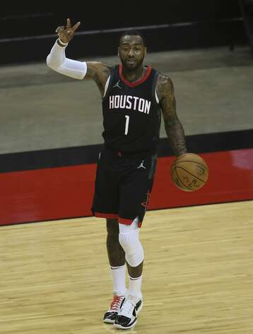 Houston Rockets guard John Wall (1) controls the ball during the second quarter of a NBA game against the Dallas Mavericks Monday, Jan. 4, 2021, at Toyota Center in Houston. Photo: Yi-Chin Lee/Staff Photographer / © 2021 Houston Chronicle