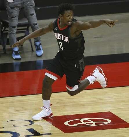 Houston Rockets forward Jae'Sean Tate (8) during the third quarter of a NBA game against the Dallas Mavericks Monday, Jan. 4, 2021, at Toyota Center in Houston. Photo: Yi-Chin Lee/Staff Photographer / © 2021 Houston Chronicle