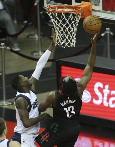Houston Rockets guard James Harden (13) goes for a lay up during the third quarter of a NBA game against the Dallas Mavericks Monday, Jan. 4, 2021, at Toyota Center in Houston. Photo: Yi-Chin Lee/Staff Photographer / © 2021 Houston Chronicle