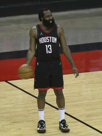 Houston Rockets guard James Harden (13) during the third quarter of a NBA game against the Dallas Mavericks Monday, Jan. 4, 2021, at Toyota Center in Houston. Photo: Yi-Chin Lee/Staff Photographer / © 2021 Houston Chronicle
