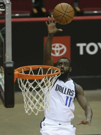 Dallas Mavericks guard Tim Hardaway Jr. (11) aims for the basket during the fourth quarter of a NBA game against the Houston Rockets Monday, Jan. 4, 2021, at Toyota Center in Houston. Photo: Yi-Chin Lee/Staff Photographer / © 2021 Houston Chronicle