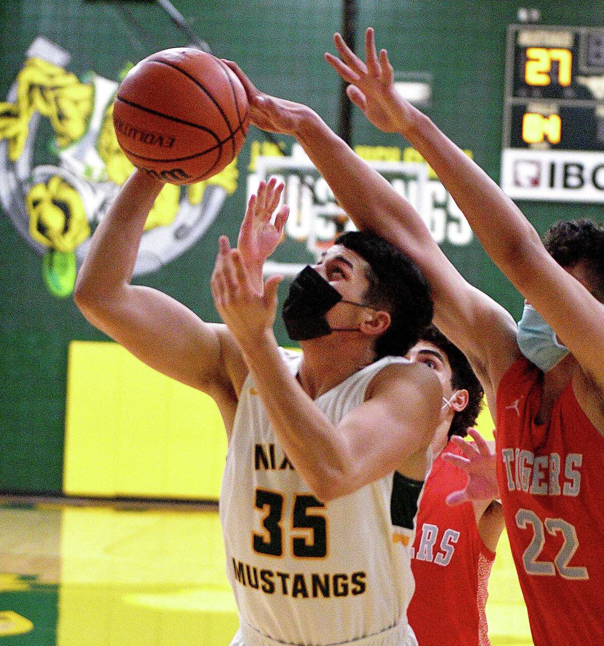Bryan Garcia and the Nixon Mustangs are set to visit LBJ on Tuesday.