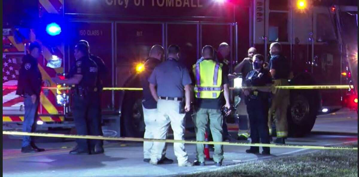 Tomball police conducted an investigation after a woman was found dead by a roadside Monday night. It appeared she was struck by a vehicle.