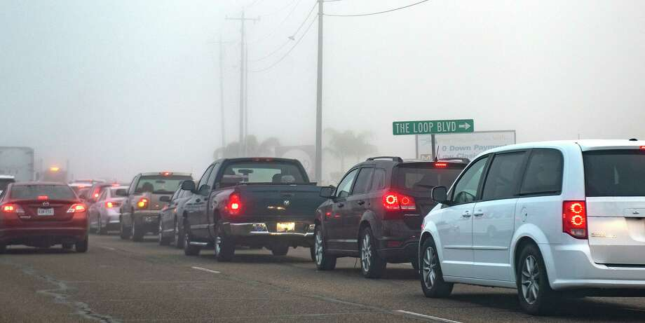 Traffic for the COVID-19 Vaccine extends to The Loop Boulevard from University Boulevard, Monday, Jan. 4, 2021, as Laredoans line up for a Covid-19 vaccine drive thru at TAMIU. Photo: Danny Zaragoza, Staff Photographer / Laredo Morning Times