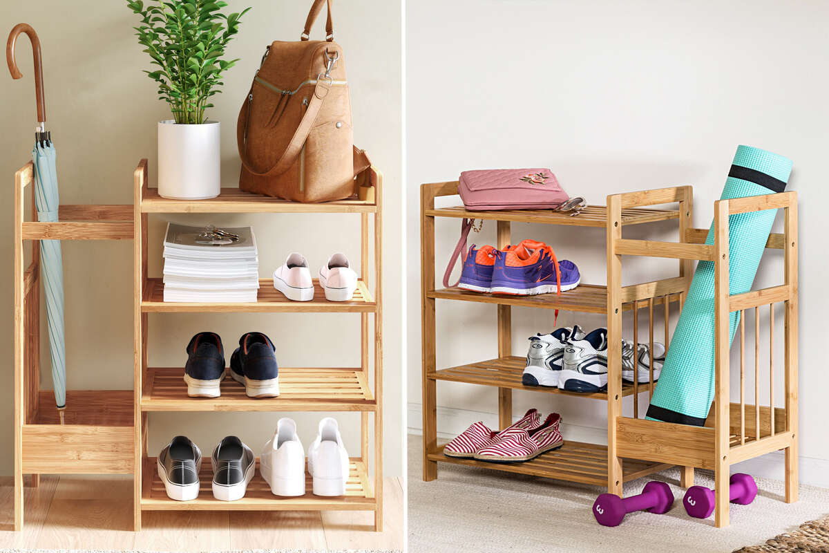 4-Tier Bamboo Entryway Shoe Organizer, $54.99 at Wayfair and $50.99 at Amazon