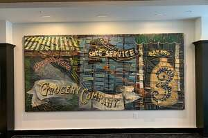 Christopher Murray's large scale painting has been installed in the lobby of newly built The Vicina on the corner of Fourth and Congress Streets in downtown Troy.