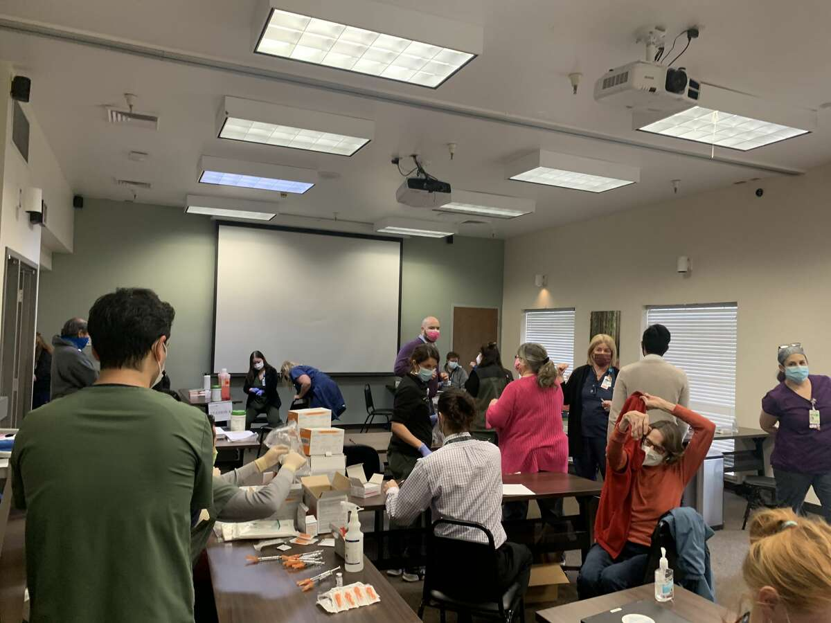 Adventist Health Ukiah Valley Medical Center distributed hundreds of Moderna COVID-19 vaccines on Monday, Jan. 4, 2020, after a refrigerator failed.