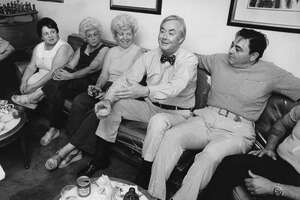 U.S. Sen. Daniel Patrick Moynihan, D-N.Y., with a group of constituents.