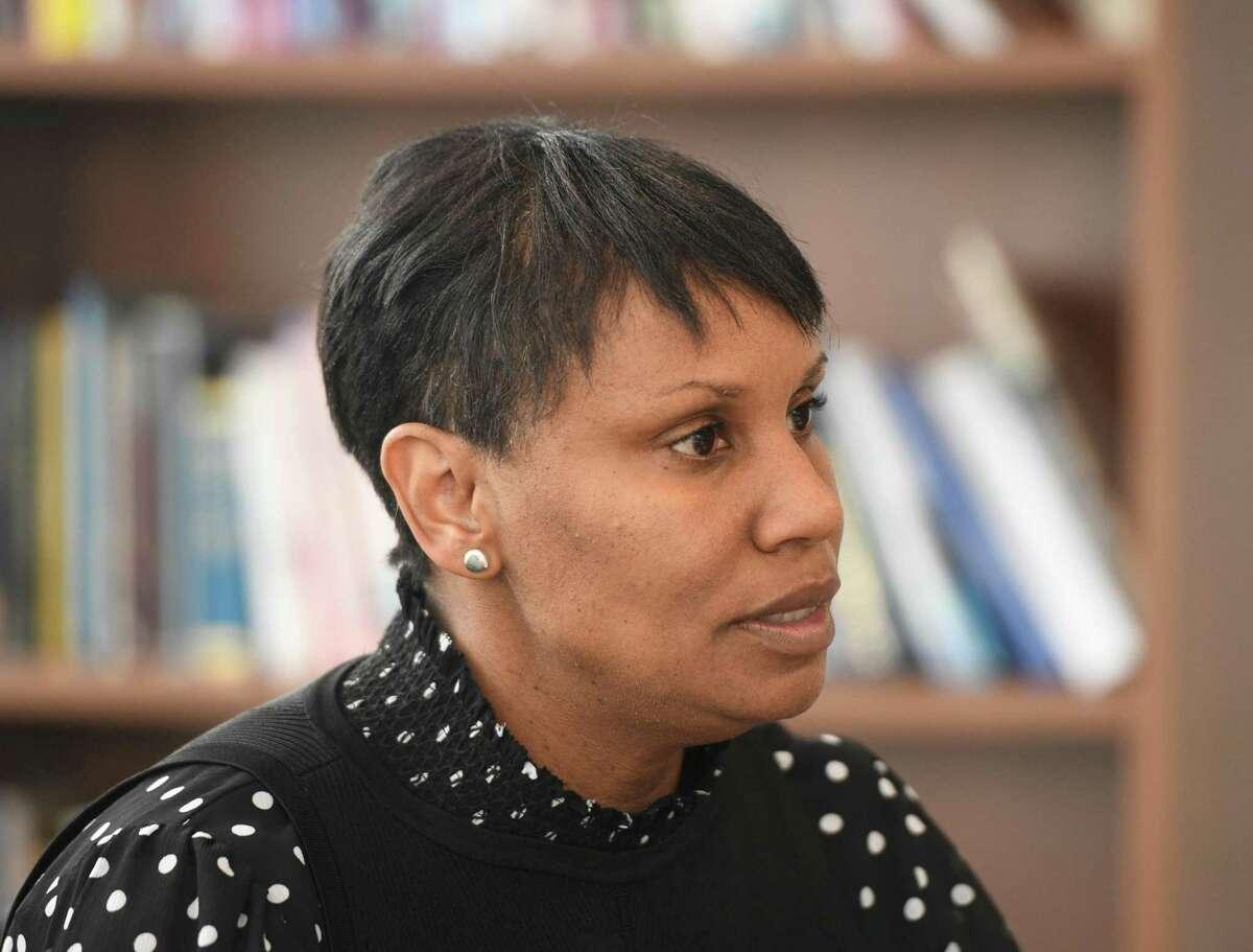 Superintendent of Stamford Public Schools Dr. Tamu Lucero.