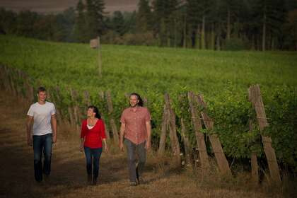 Brooks Winery's team, from left: owner Pascal Brooks, managing director Janie Brooks Heuck and winemaker Chris Williams.