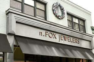 Exterior of N. Fox jewelry located on Broadway on Monday, Jan. 4, 2021 in Saratoga Springs, N.Y. The first New York case of the U.K. coronavirus strain was detected in a man who works at the jewelry store on Broadway. (Lori Van Buren/Times Union)