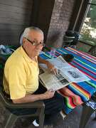 Guillermo Antonio Frau Rullán, or Abuelo, had a love for journalism. He stayed with family in Galesburg, Illinois, for more than eight months while waiting for electricity to return to his pueblo in Puerto Rico after Hurricane Maria.