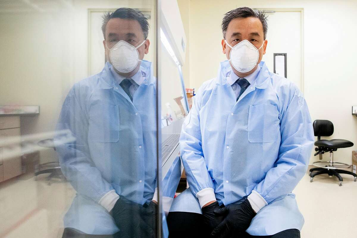 UCSF-Abbott Viral Diagnostics and Discovery Center lab director Dr. Charles Chiu poses for a portrait inside his lab in San Francisco, Calif. Tuesday, January 5, 2021. Public health experts are increasingly concerned about the impact of highly contagious coronavirus variants. UCSF is running tests on the strains of the virus circulating in California to help identify new strains.