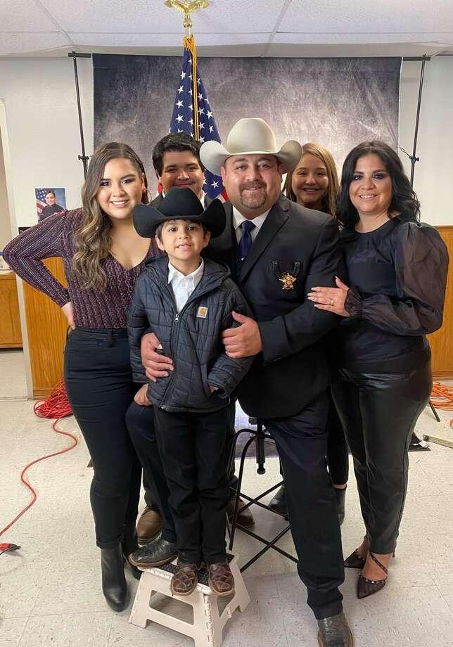 Zapata County Sheriff Raymundo Del Bosque Jr. and his family pose for a photo. Photo: Courtesy Photo /Zapata County Sheriff's Office