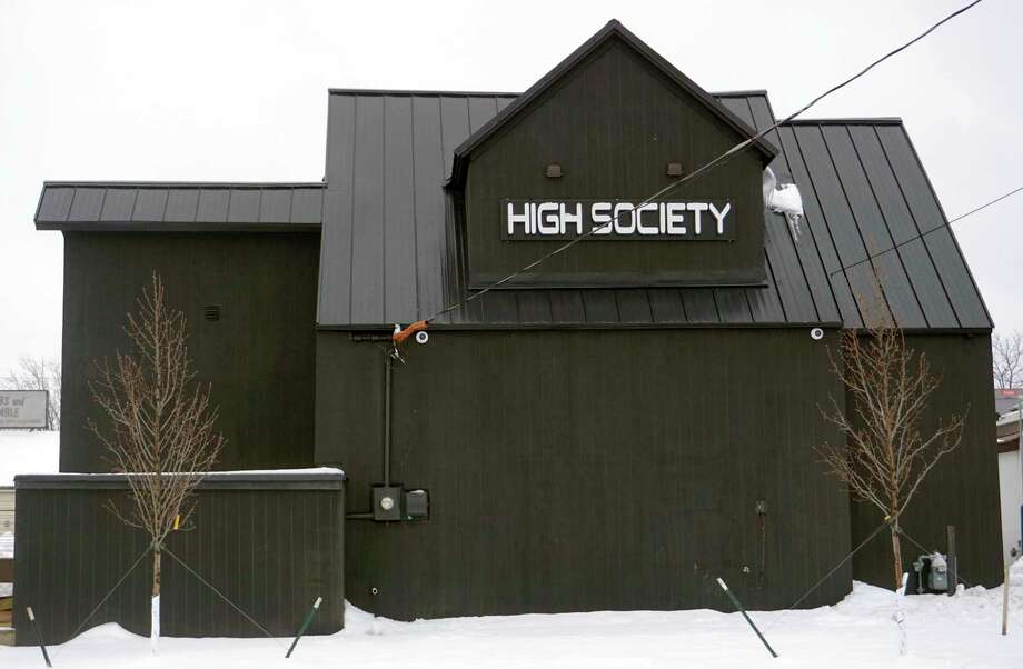 High Society has continued to make progress on its Big Rapids store since announcing it would be coming to the area in August. The dispensary is located at 804 Clark St. (Pioneer photo/Joe Judd)