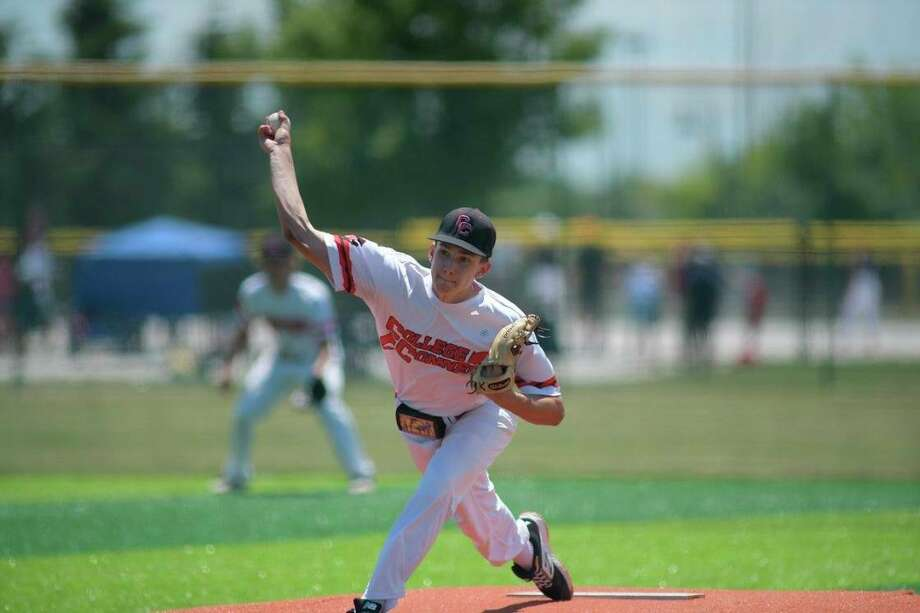 Big Rapids' Keaton Ballard delivers a pitch for his summer team. (Courtesy photo)
