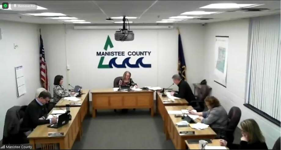 The Manistee County Board of Commissioners met for the first meeting of the new year on Jan. 4. Photo: Zoom Screenshot