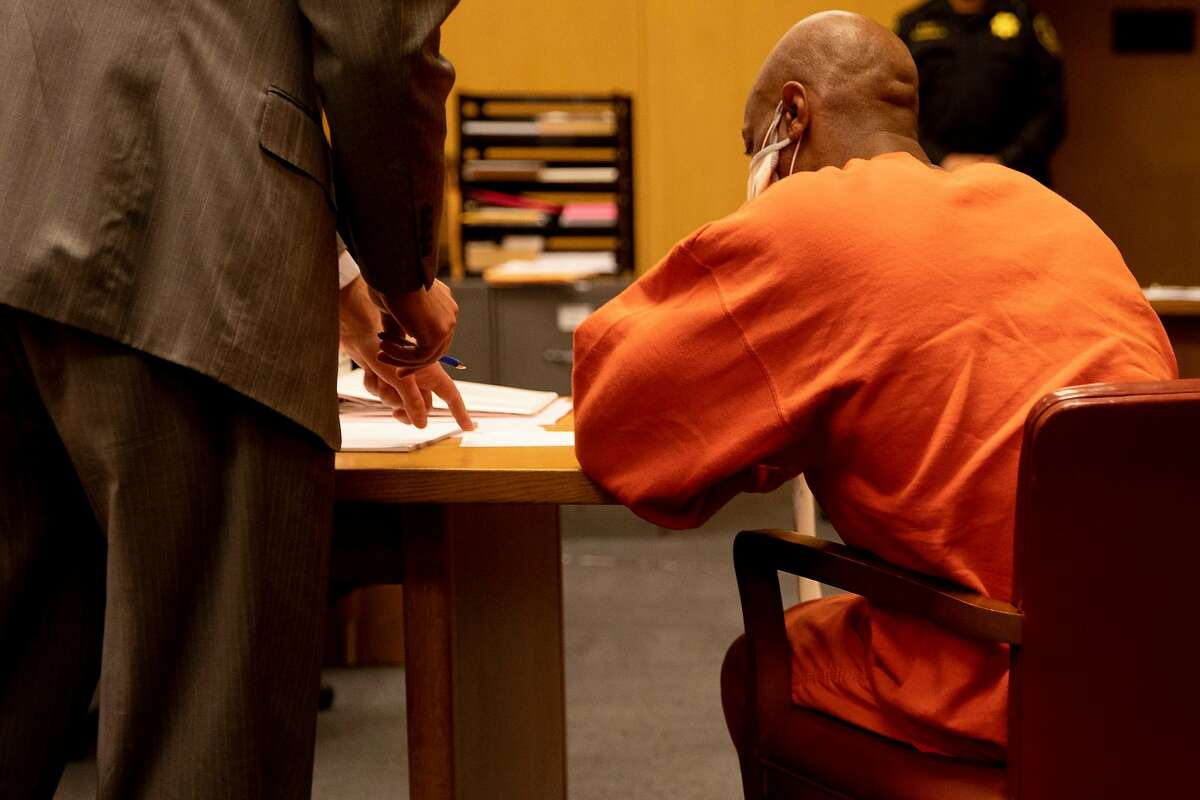 Troy McAlister appears for his arraignment at the Hall of Justice in San Francisco.