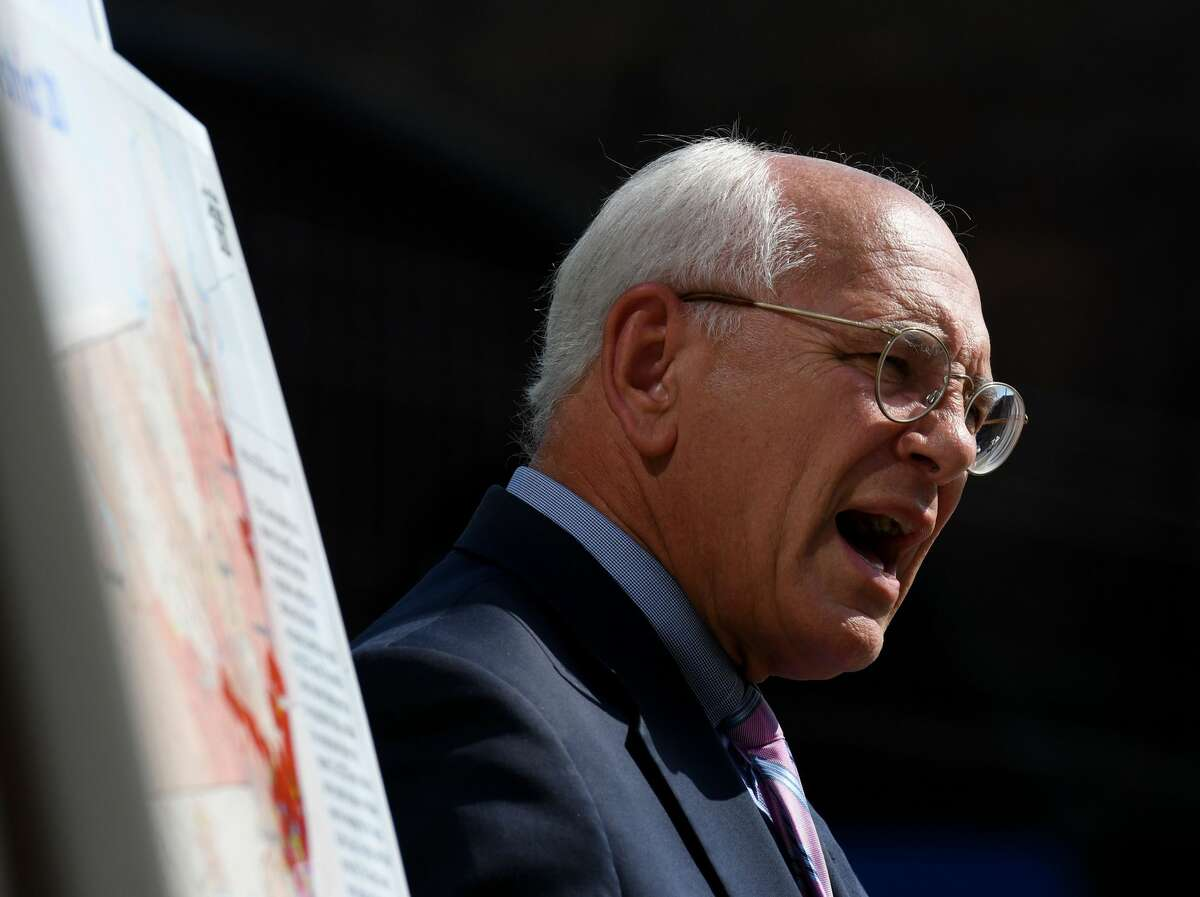 U.S. Rep. Paul Tonko speaks during a press conference on Tuesday, Sept. 3, 2019, in Albany, N.Y. Tonko has supported a resolution to censure President Donald Trump for his call to Georgia's top election official on Jan. 2, 2021. (Will Waldron/Times Union)