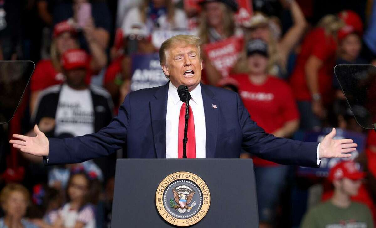 President Donald Trump speaks at a campaign rally at the BOK Center in Tulsa, Oklahoma, on Saturday, June 20, 2020.