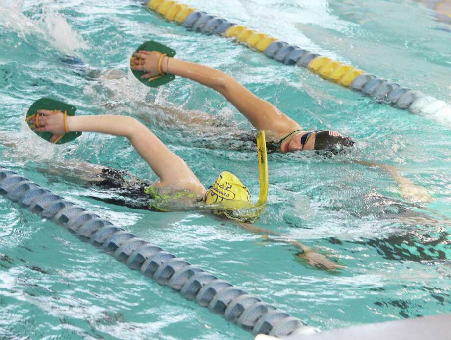 The Manistee girls swimming team returned to practice on Tuesday in preparation for their rescheduled Division 3 state finals, slated for Jan. 16 at Lake Orion. (Dylan Savela/News Advocate)