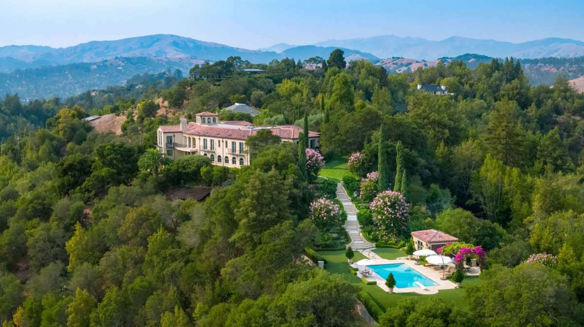 This property on Upper Toyon Road in Ross came to market asking $16.5 million. It finally closed in December, selling off-market for $15.8 million, making it the priciest home sale of 2020.