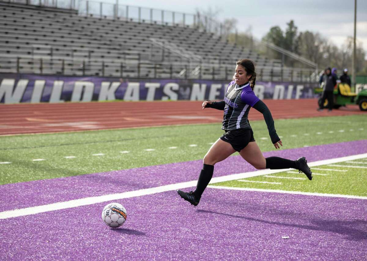 In this file photo, Willis forward Ashley Miranda (13) takes control of the ball against Spring High School in a Kat Cup game in Willis on Saturday, Jan. 11, 2020.