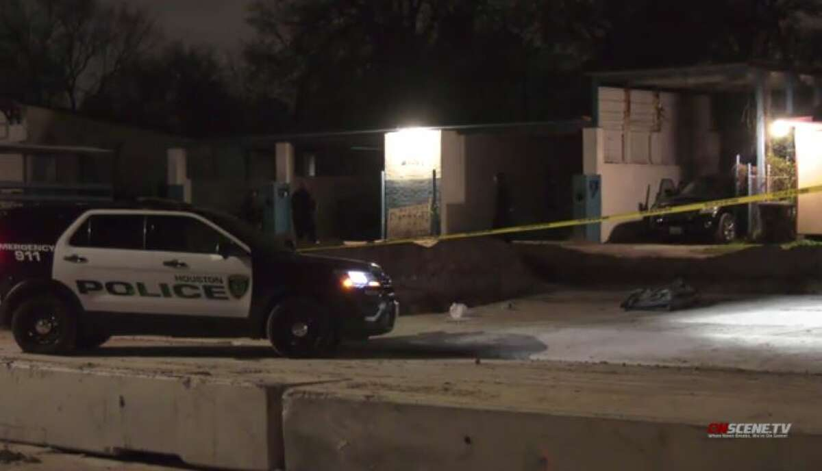 Police investigate a fatal shooting in the Trinity area of northeast Houston on Tuesday, Jan. 5, 2021.