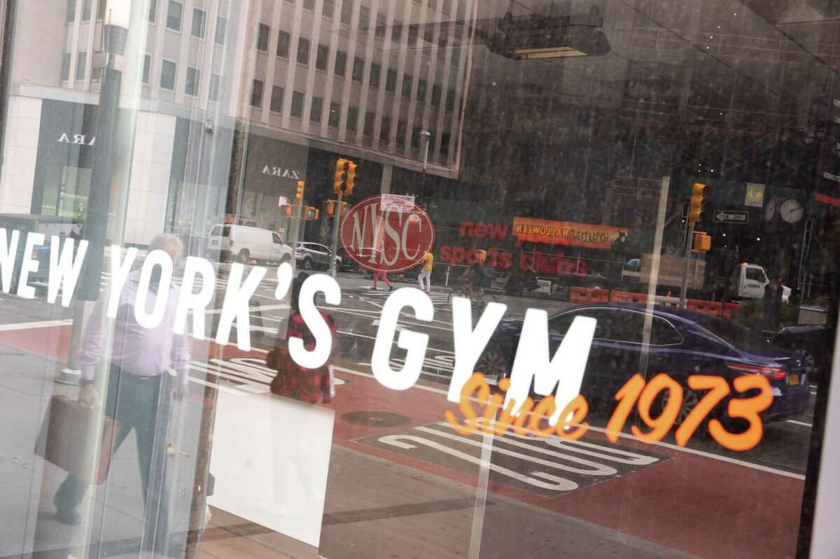 New York Sports Club signage is displayed at a gym in New York on Sept. 14, 2020.