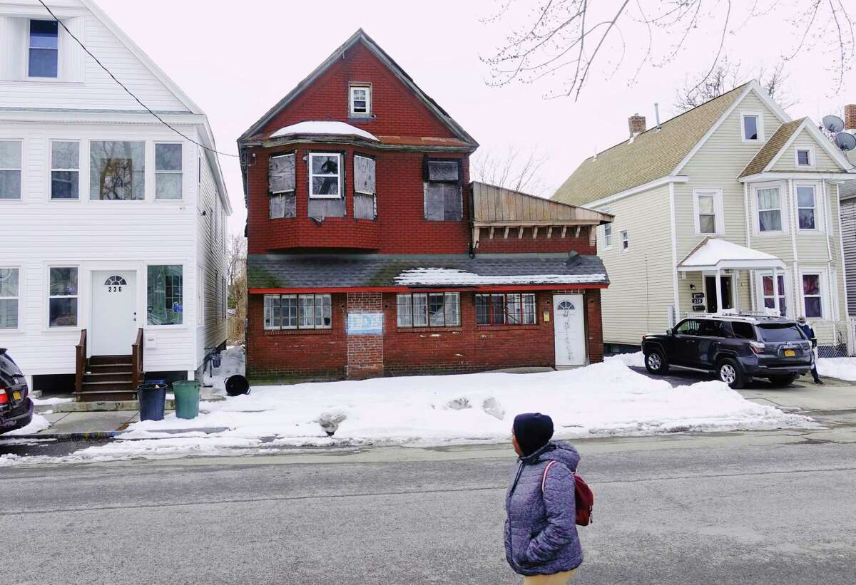 A view of the building at 234 Duane Ave, a Schenectady city-owned property, seen here on Wednesday, Jan. 6, 2021, in Schenectady, N.Y. (Paul Buckowski/Times Union)