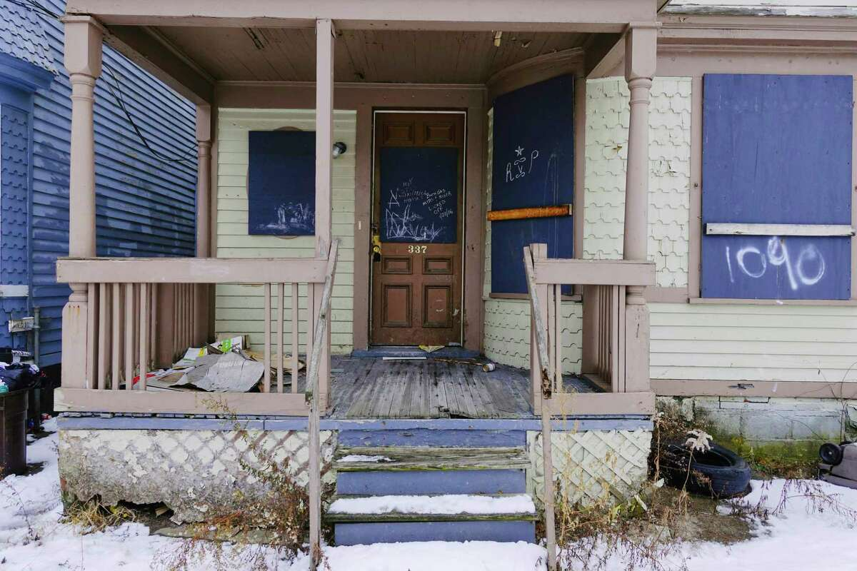 A view of the home at 337 Germania Ave, a Schenectady city-owned property, seen here on Wednesday, Jan. 6, 2021, in Schenectady, N.Y. (Paul Buckowski/Times Union)
