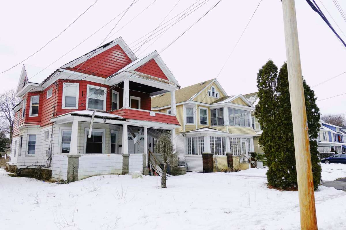 A view of the home at 1726 Rugby Rd, on left, a Schenectady city-owned property, seen here on Wednesday, Jan. 6, 2021, in Schenectady, N.Y. (Paul Buckowski/Times Union)