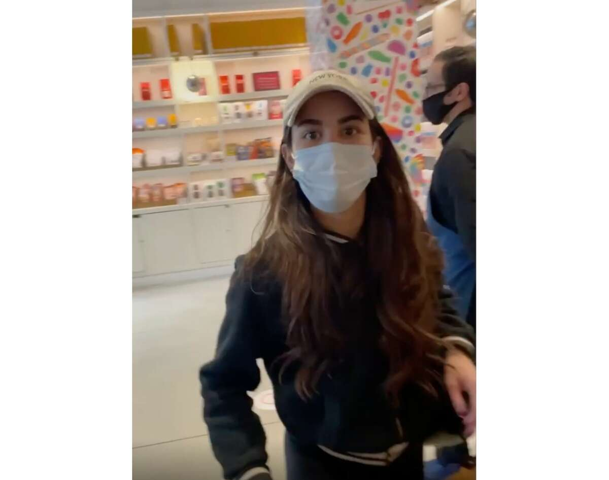 Two New York City police detectives traveled to California in pursuit of Miya Ponsetto, seen here in an Instagram video dated Dec. 26, 2020.