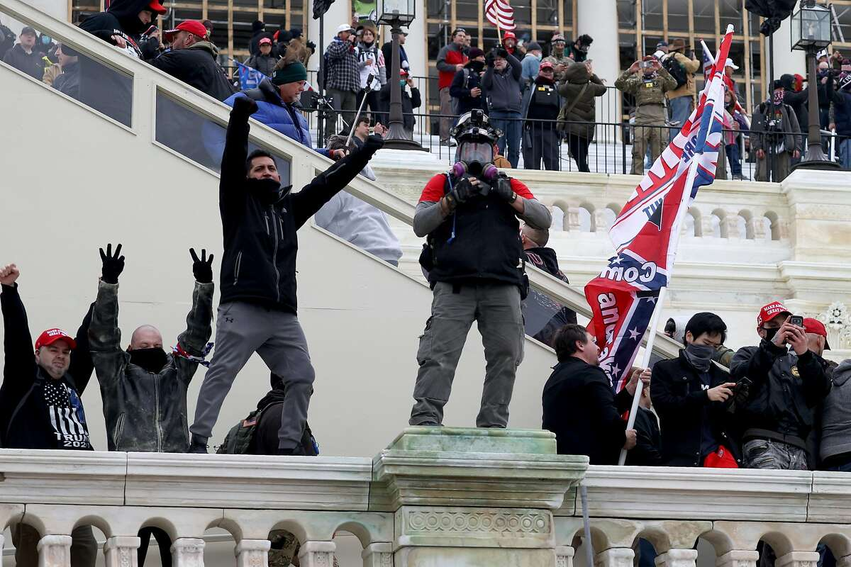 Trump supporters gather at the U.S. Capitol on Jan. 06, 2021, in a mass demonstrations during a joint session Congress to ratify President-elect Joe Biden's 306-232 Electoral College win over President Donald Trump.