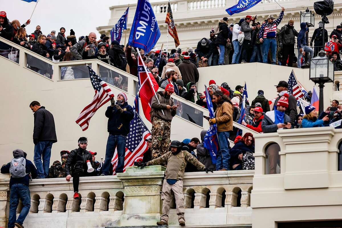 President Trump's supporters stormed the Capitol following a rally in Washington on Wednesday, delaying Congress' certification of the presidential election.