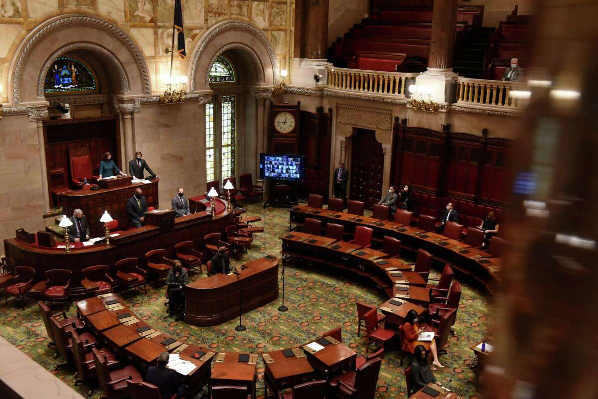 FILE. Letter writer says, 'The state Legislature must prioritize funding the transition off fossil fuels this legislative session, and one of the big items they should pass in order to do so is the Climate and Community Investment Act.' (Will Waldron/Times Union)