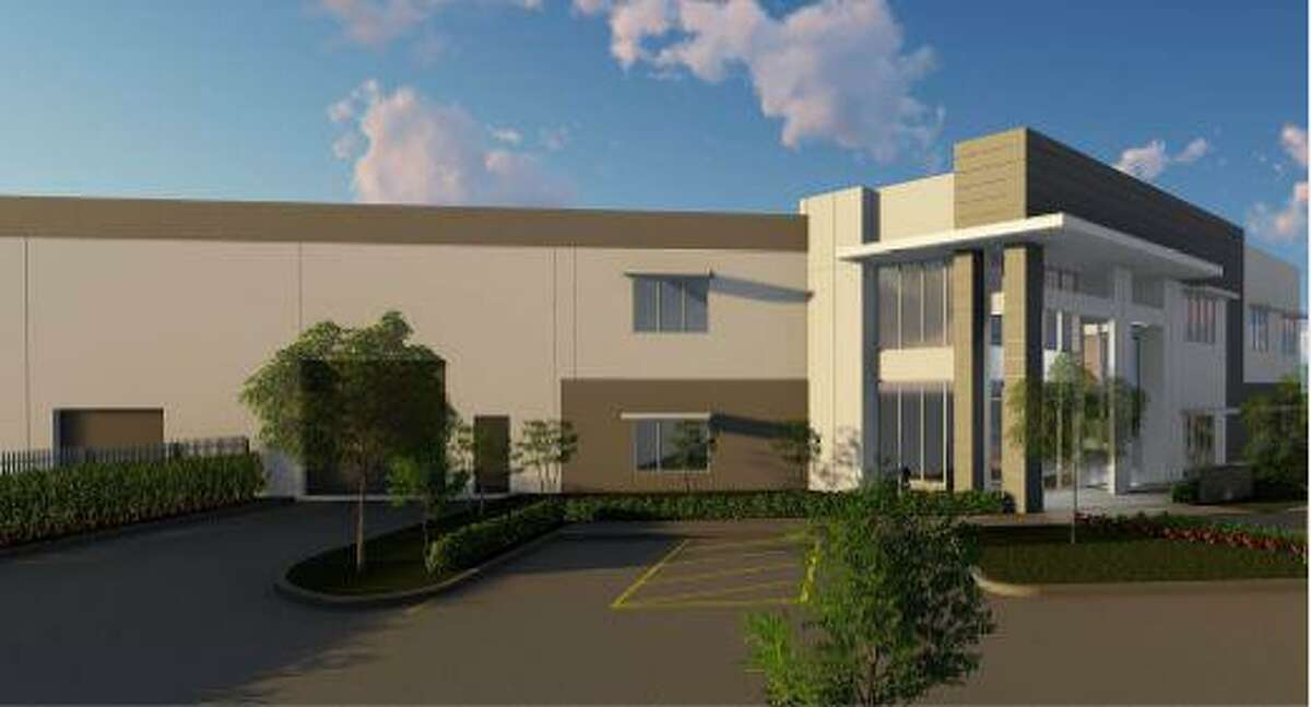 Renderings for the planned headquarters for JDR Cable Systems along South Persimmon Street.