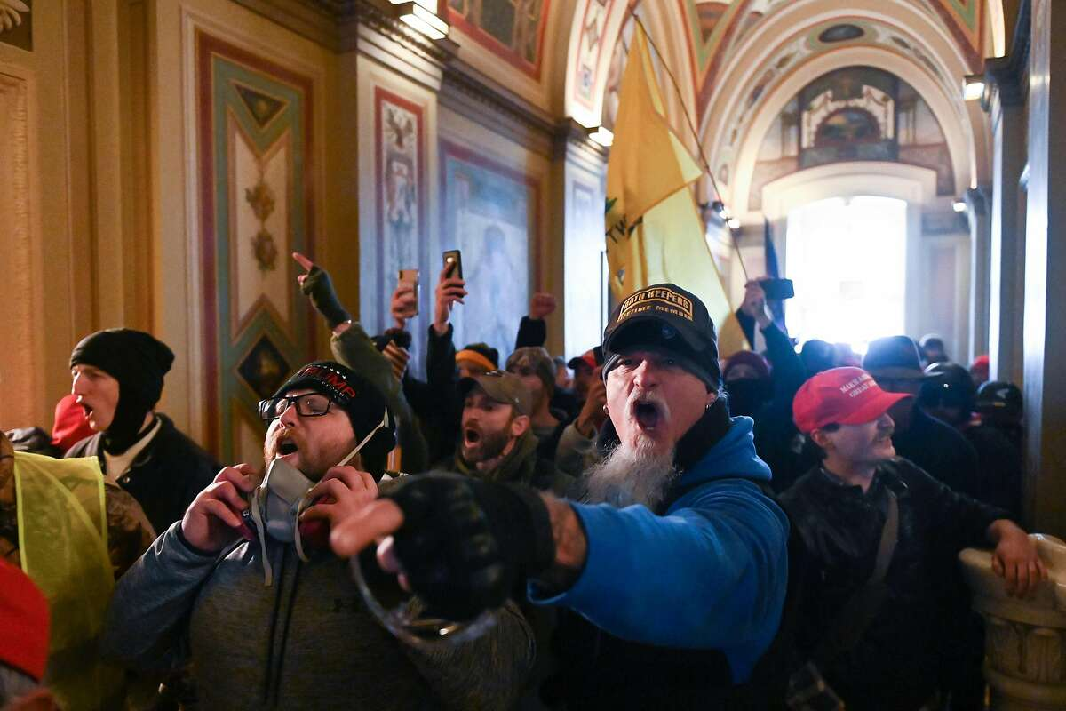 Supporters of President Donald Trump inside the U.S. Capitol on Jan. 6, 2021, in Washington, D.C.