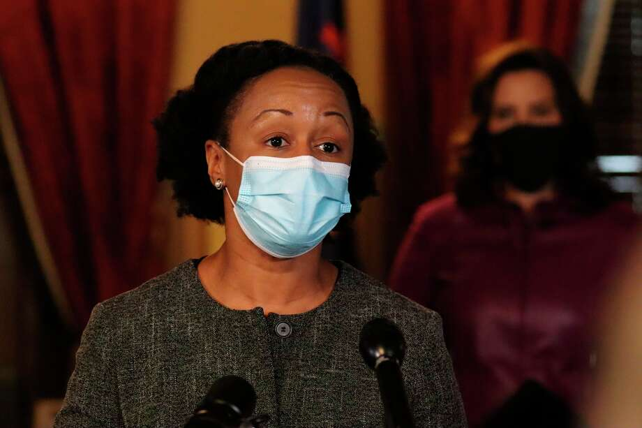 Dr. Joneigh Khaldun, chief medical executive and chief deputy for health, spoke during a press conference on Wednesday. Starting on Monday Michigan will move to a new phase of COVID-19 vaccination. (Courtesy photo/Office of the Governor)